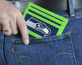 Seahawks Duck Tape Front Pocket Wallet