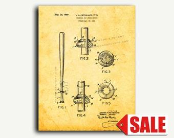 Patent Art - Baseball Bat Choke Device Patent Wall Art Print