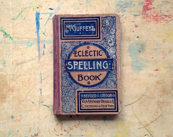 Antique Eclectic Spelling Book • free shipping