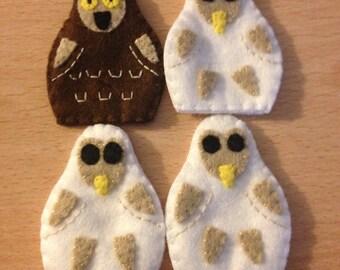 Owl babies story puppet set