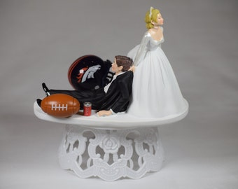 nfl wedding cake toppers handmade wedding cake topper nfl football by creationsbydhyani 17840
