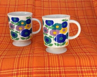 Retro 60's coffee mugs set/2