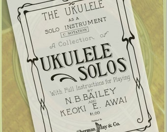 The Ukulele as a Solo Instrument - Ukulele Solos e-Book
