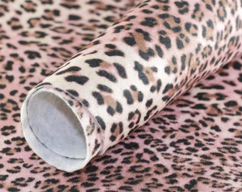 Craft Felt sheet . Pink Leopard 9'' x 12'' JR06995