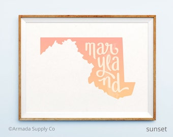 Maryland print - Maryland art - Maryland poster - Maryland wall art