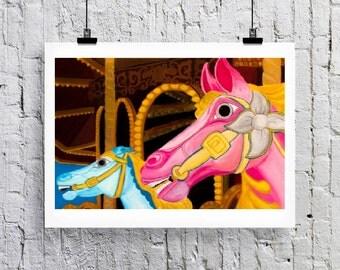 Carousel Greetings card/Art Print
