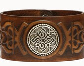 "Armenian Cross Cuff Bracelet "" Ararat "" Genuine leather,Handmade , Armenia"
