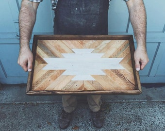 Rustic Reclaimed Salvaged Wood Serving Tray
