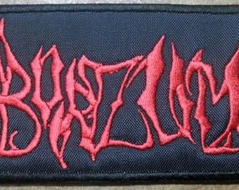 Burzum embroidered patch Black Metal Mayhem Old Funeral