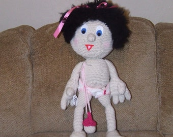 Large crochet baby doll
