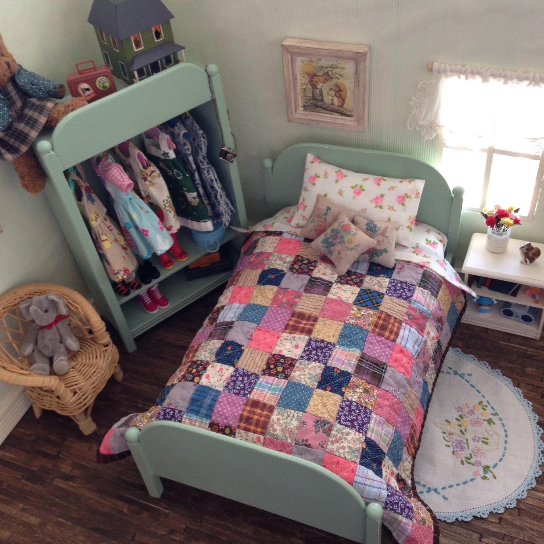 sea glass doll bed blythe bedroom furniture shabby cottage On blythe bedroom
