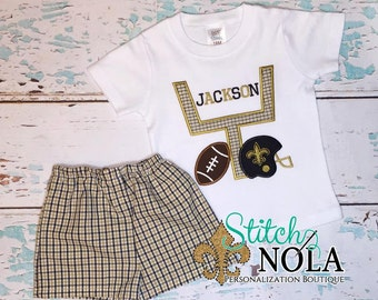 Black and Gold Goal Post Shirt and Shorts Set