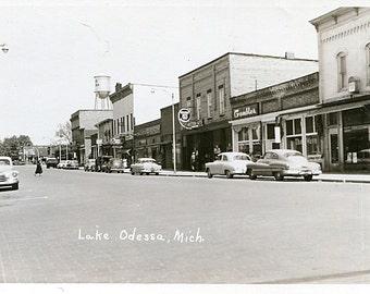 Lake Odessa Michigan Real Photo Postcard