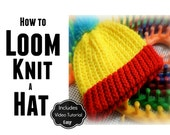 How to Loom Knit a Hat for Beginners 9-Page Instructional Booklet with Video Tutorial that You can Share with Your Group