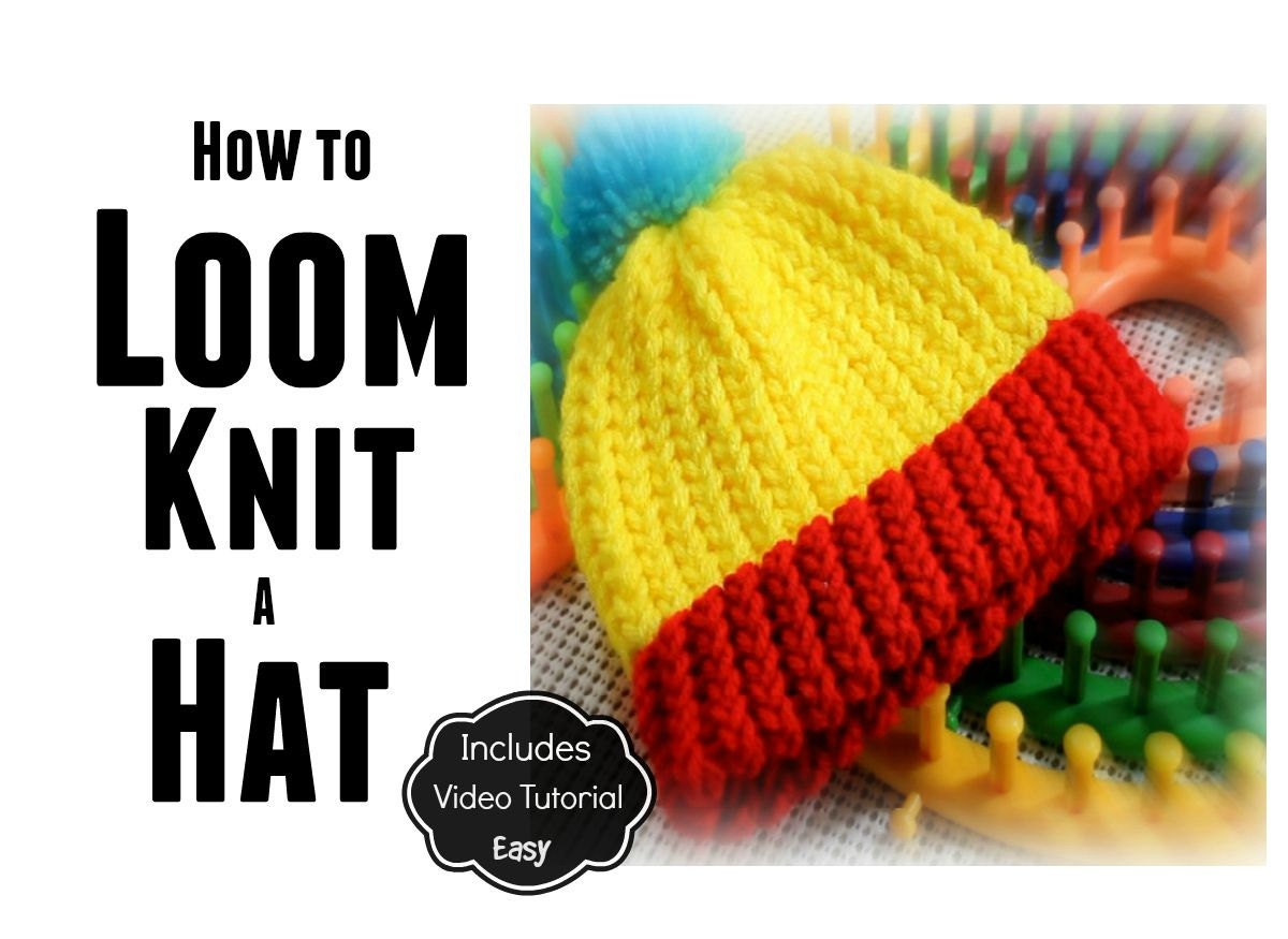 Loom Knitting Pattern Book Download : Loom Knitting Pattern for Beginners How to Make a Hat / 9-Page