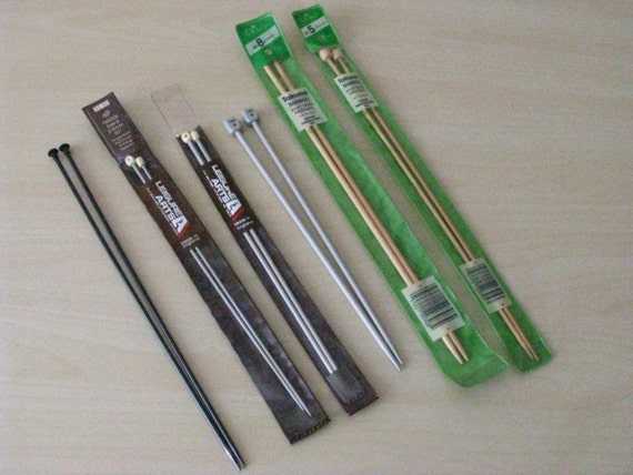 Knitting Needle Sizes Old And New : Knitting needles set assorted sizes and types