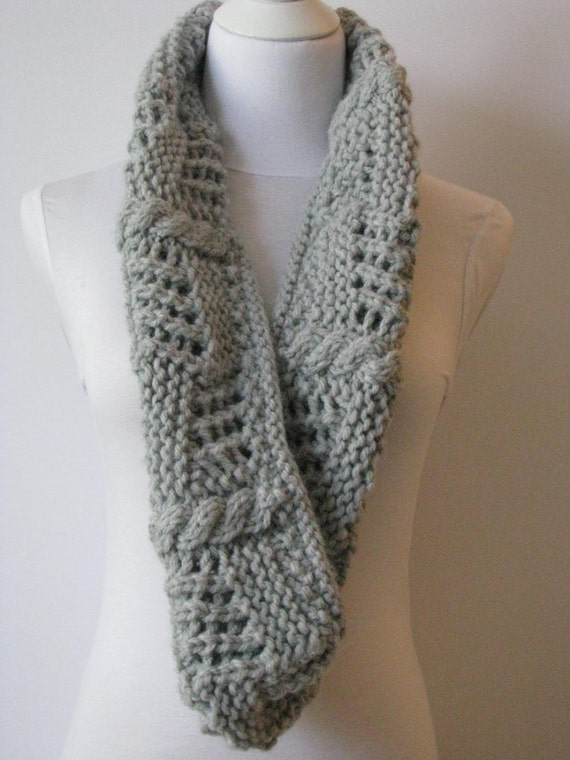 Circle Scarf Knitting Patterns : Instant Download Knitted Scarf pattern Cowl Knitting pattern