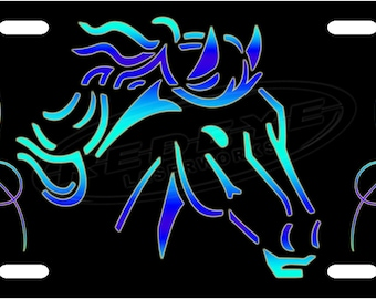 Tribal Horse License Plate Tag