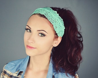 Stretch lace headband