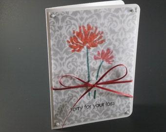 Sympathy Card, Sympathy Flower Card