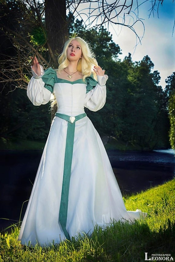 Odette swan princess cosplay costume for Sexy wedding dress costume
