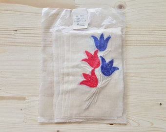 Original Pack of 10 Floral Fabric Appliques