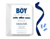 Car Baby Shower Invitations for Boys, Its a Boy Baby Shower Invitation, Muscle Car Baby Boy Shower Invites, Roadster Car Baby Shower Invite