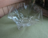 Ruffled Glass Bowl Duncan Miller Canterbury 1939 to 1951 Crimped Centerpiece or Coffee Table Bowl Mid Century Modern Serving Bowl