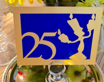 Fairy Tale Wedding Collection - Beauty and the Beast Table Numbers - Lumiere