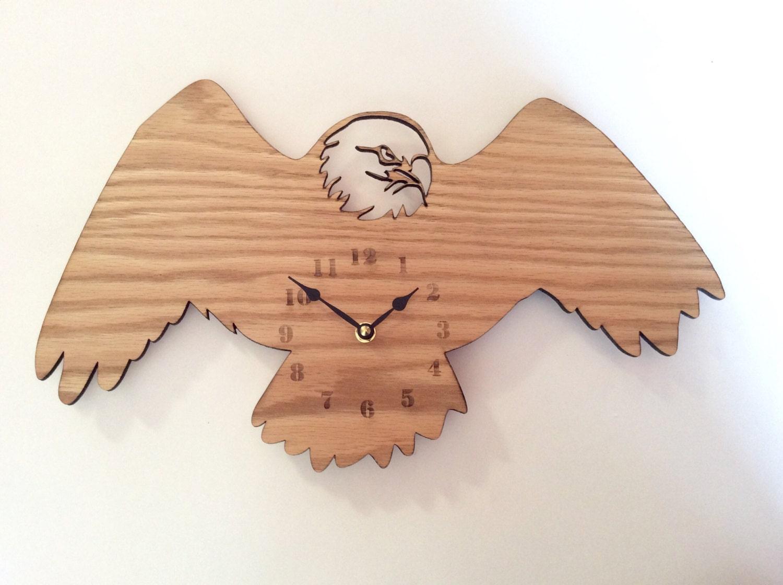 Eagle wall clock. wood wall clock wood clock wall clock