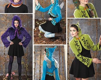Simplicity Pattern 1293 Misses Costume Jackets, Wings and Hat