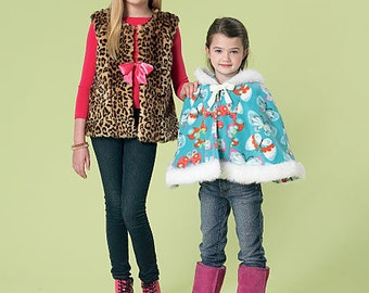 OUT of PRINT McCall's Pattern M7237 Children's/Girls' Vest, Jacket, Cape and Scarf