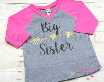Big Sister Shirt Big Sis Shirt Big Sister Raglan Shirt