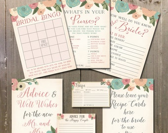 Bridal Shower Games Printable, Bridal Shower Games, Shower Games, Shower Printables INSTANT DOWNLOAD