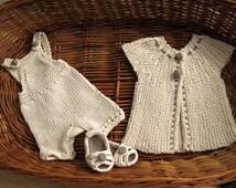 PDF baby  set - knitting babies  pattern  - Babies Set - up to 4  months