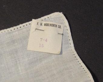 fine linen handkerchief vintage