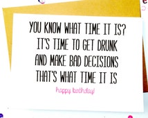 Funny Birthday Cards/Cute Funny Cards/Drinking Birthday Card/Birthday Humor