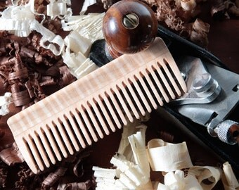 Natural Hair Care - Cherry and Curly Maple - Wooden Comb - Long Hair Products - FREE SHIPPING