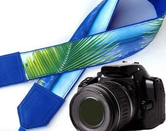 Blue camera strap. DSLR Camera Strap. Sea Camera Strap. Beach camera strap. Camera accessories. Photographer gift.