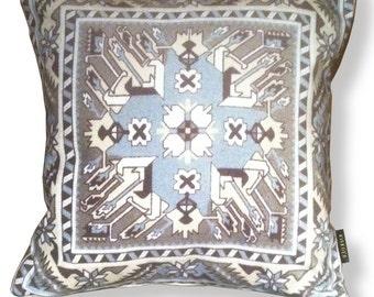 Naturel grey velvet cushion cover GRES BOULDERS