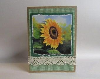 Handmade Greeting Card Sunflower