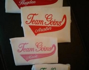 Set of four Family team shirts