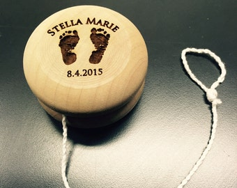 Personalized wood YoYo Toy - Great Gift for Yo Yo fans