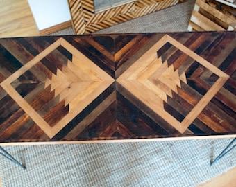 Reclaimed Wood Navajo Design Desk