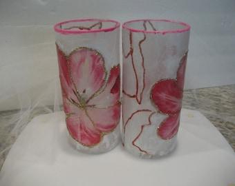 Handmade Hibiscus Candleholder/Vase
