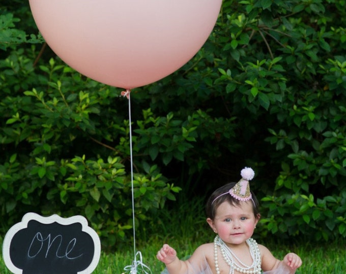 """Pink Balloon, HUGE 36"""" Round Latex Balloon, Pick Your Color   Baby Pink Pink Hot Pink Mint"""