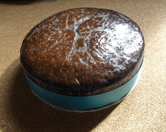 Homemade West Indian Fruitcake made with pureed fruit and seeped in rum and brandy (1kg-1.5kg)