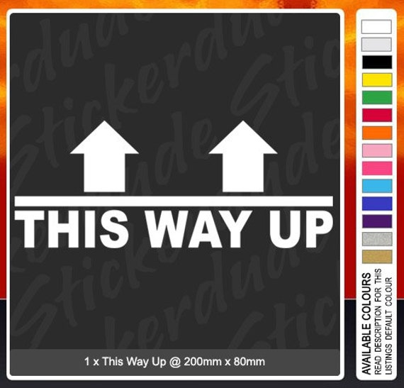 This Way Up funny vinyl sticker/decal for car4x4truckjdm  This Way Up fun...