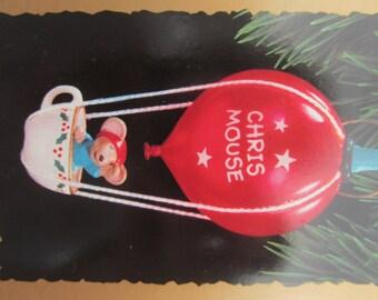 Hallmark  Ornament   1993   Chris  mouse  Flight     QLX  715 - 2 - lighted Christmas Ornament