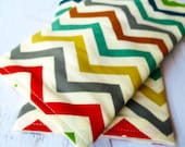 Drool Pads in Organic Chevron | Strap Covers | Suck Pads | fits Car Seat Straps, Baby Carriers, Ergo, Tula, Beco, Boba, Mei Tai, SSC